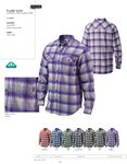 Custom Columbia Flare Gun LS Plaid Shirt - Blank
