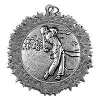 """Stock Star Border 2 3/4"""" Medal- Golf Male"""