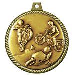 Custom Stock Medal w/ Rope Border (Motorcycling) 2 1/4