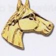 Custom Stock Animal Lapel Pin (Horse Head Facing Right)