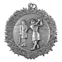 """Stock Star Border 2 3/4"""" Medal- Golf Female"""