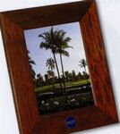 Rosewood Finish Rectangular Frame for 5