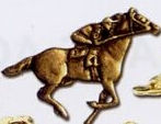Custom Stock Sports Lapel Pins (Horse and Jockey)