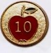 Custom Stock Education Lapel Pins (# 10 Apple)