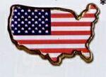 Custom Stock Patriotic Lapel Pins (Flag USA)