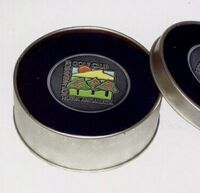 Leatherette Coasters with Tin set of 4