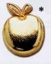 Custom Stock Education Lapel Pins (Golden Apple)