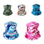 Custom Neck Gaiter Washable Breathable Face Cover Scarf Dustproof
