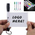 LED Flashlight Banner Pen / Key Chain