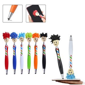 3 in 1 Mop Topper Ballpoint Stylus Pens Screen Cleaner