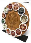 Custom Coffee Caddy Natural Wood Square