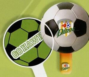 Custom Printed Soccer Ball Fans