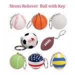 2 in 1 Stress Reliever Ball Key Chain
