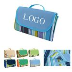 Custom Outdoor Waterproof Portable Beach Mat Picnic Blanket With Carrying Handle