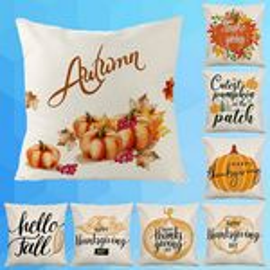 Thanksgiving Linen Square Pillowcase