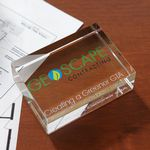Custom Rectangle Paperweight Award