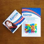 Custom Mini Bag M&Ms on Bifold Card