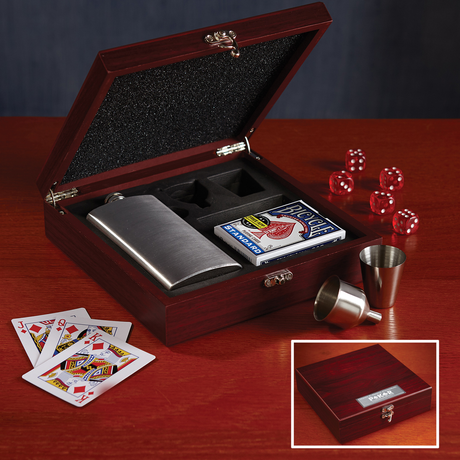 Flask and Gambling Gift Box
