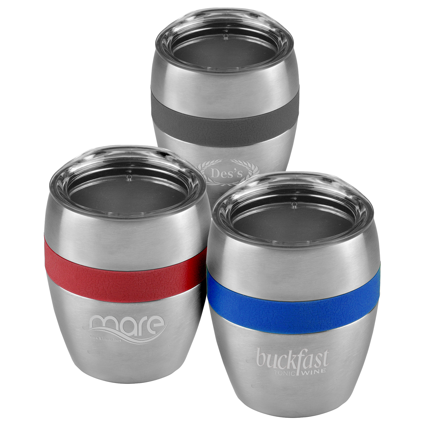 Color Band 10 Oz Stainless Steel Vacuum Cup