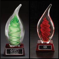 Dublin Art Glass Award w/ Rosewood Base