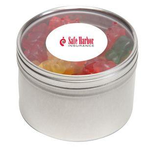 Gummy Bears in Lg Round Window Tin