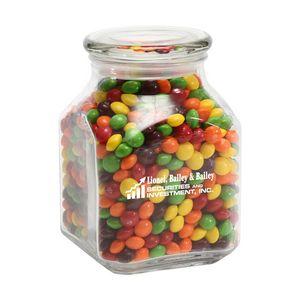 Skittles in Lg Glass Jar