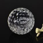 Custom Crystal Ball Golf Paperweight