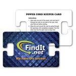 Custom Power Cord Winder / Wallet Card