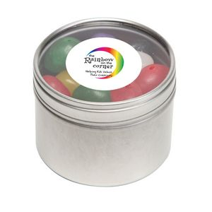 Standard Jelly Beans in Sm Round Window Tin