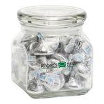 Custom Hersheys Kisses in Sm Glass Jar