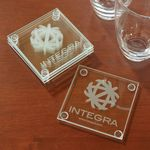Custom Economy Glass Coaster Set