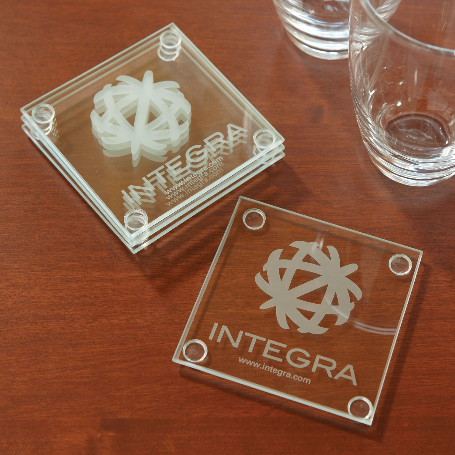 Economy Glass Coaster Set