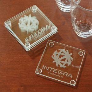 Economy Glass Coaster Set