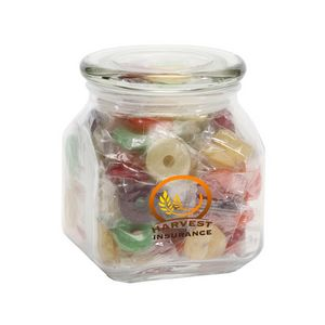 Life Savers in Med Glass Jar