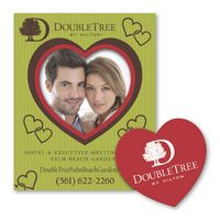 Heart Punch Out Picture Frame Magnet