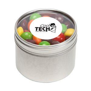 Skittles in Sm Round Window Tin