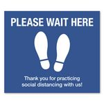 Custom 12 x 14 Recantagle Wait Here Floor Decal