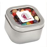 Custom Jelly Bellys in Large Square Window Tin
