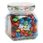 Custom M&Ms Plain in Sm Glass Jar