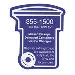 Custom Trash / Recycling Bin Magnet
