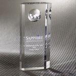 Custom Nazione Pillar Globe Optically Perfect Award