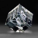 Custom 3D Crystal Jewel Cube Medium Award