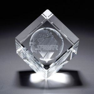 3D Crystal Jewel Cube Large Award