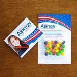 Custom Mini Bag Skittles on Bifold Card