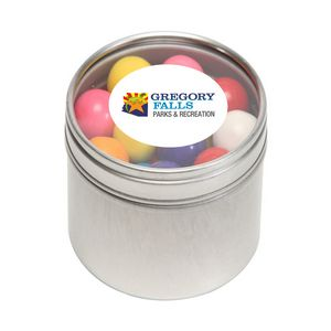 Gumballs in Sm Round Window Tin