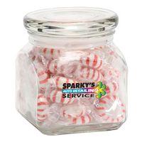 Striped Peppermints in Sm Glass Jar