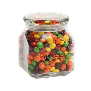 Skittles in Med Glass Jar