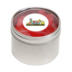 Swedish Fish in Sm Round Window Tin
