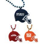 Custom Football Helmet Medallion Beads