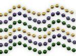 Custom 7.5 Mm Bead Necklace (Mardi Gras Colors)